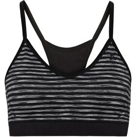 Odlo Seamless Soft Reggiseno sportivo Donna, black/grey melange